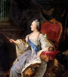 Императрица Екатерина II ( Репродукция Рокотова)